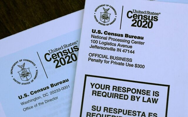 Le recensement de 2020 contient une question qui conduit les Juifs à se poser d'autres questions. (Illustration par Justin Sullivan/Getty Images via JTA)