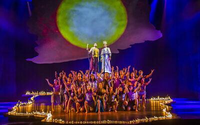 """Une scène de la production londonienne du """"Prince d'Egypte"""". (Tristram Kenton/ via JTA)"""