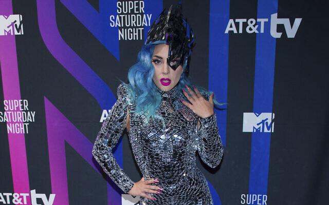 Lady Gaga participe auAT&T TV Super Saturday Nightà Meridian sur Island Gardens à Miami le samedi 1 février 2020. (Photo par Scott Roth/Invision/AP)