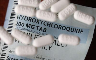 Des pilules d'hydroxychloroquine. (Crédit : AP Photo/John Locher)