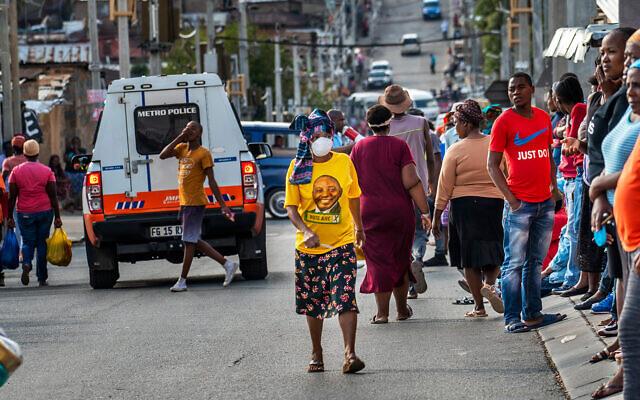 Le township Alexandra de Johannesburg en Afrique du Sud, le 15  avril 2020. (AP/Jerome Delay)