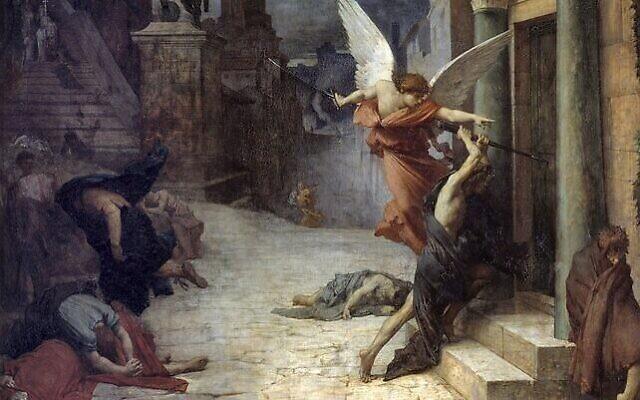 """""""La peste à Rome"""" de Jules Elie Delaunay, en 1869. (Crédit : Domaine public)"""