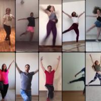 Le groupe de danse juif mexicain Anajnu Veatem se produit dans une vidéo collectives diffusées en ligne (Capture d'écran YouTube)
