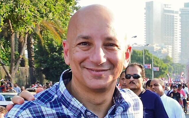 L'intellectuel égyptien Khaled Fahmy, professeur d'histoire à l'Université de Cambridge et spécialiste des épidémie, le 30 juin 2013. (Crédit : Amir MAKAR / AFP)