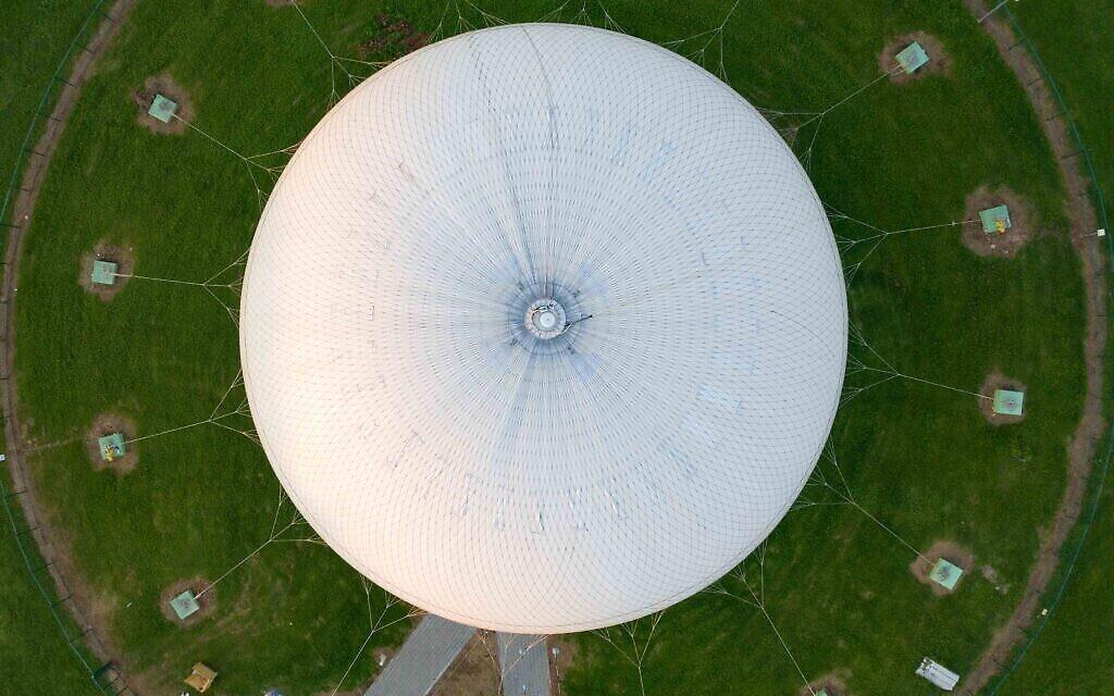 TLV Balloon, la montgolfière installée à Ganei Yehoshua, Tel Aviv, mars 2020. (Crédit : Lord K2)