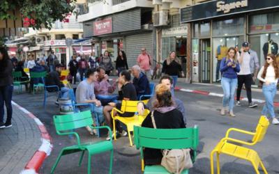 Levinski Street à Tel Aviv. (Crédit :  municipalité de Tel Aviv)