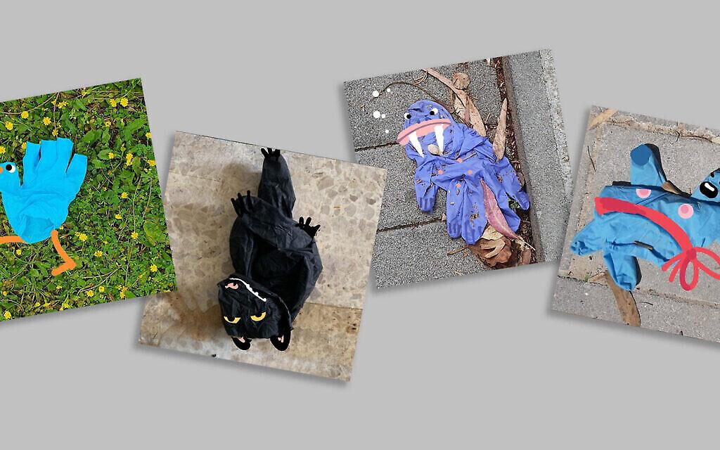 Le créateur Yoav Gati réinvente les gants usagés (Autorisation : Yoav Gati/ via JTA)