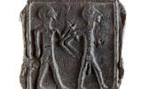 Une pièce en argile cananéenne de 3500 ans trouvée à  Tel Gama (ville cananéenne de Yarza) au mois de mars 2020 (Crédit : Autorité israélienne des antiquités)