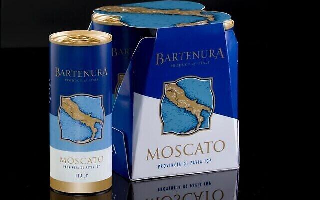 Du vin Bartenura Moscato en cannette (Autorisation :  JTA)
