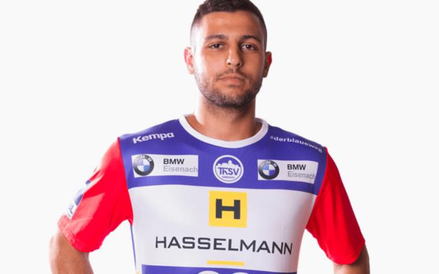 Yoav Lumbroso, joueur de handball israélien qui évoluera lors des saisons 2020-2021 et 2021-2022 au Limoges Hand 87. (Crédit : lh87.fr)