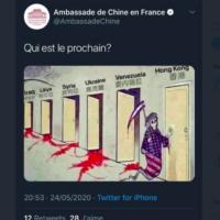 Capture d'écran du tweet antisémite et complotiste de l'ambassade de Chine en France.