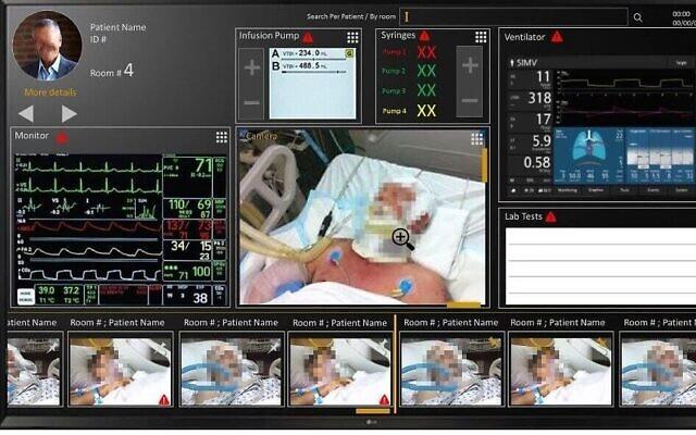 Le 'Cockpit', un sytème développé par l'Israel Aerospsace Industries, Microsoft et le centre médical Soroka, dans l'unité Covid de l'hôpital. (Autorisation)