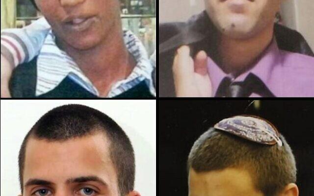 Dans le sens des aiguilles d'une montre, à partir du haut à gauche : Avraham Mengistu, Hisham al-Sayed, Hadar Goldin et Oron Shaul. (Flash 90/Times of Israel)