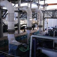 Vue de l'usine de dessalement de Sorek A, le 22 novembre 2018. (Isaac Harari/Flash90)