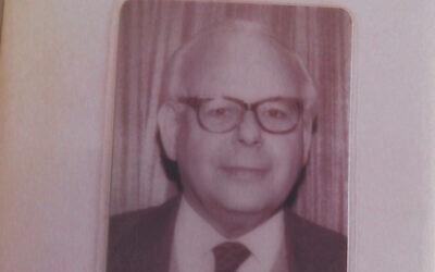 Une photo d'Herbert Max Fraenkel qu'une équipe de volontaires étudiant ses ancêtres a retrouvé mort en janvier dans sa maison de Londres. (Crédit : The Jewish News/ via JTA)