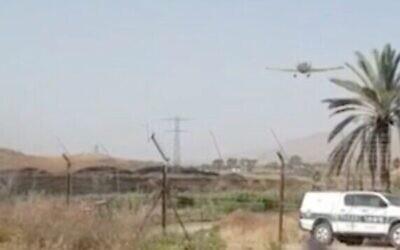 Capture d'écran d'une vidéo de la zone où l'armée israélienne a déjoué une opération visant à faire entrer des armes en contrebande de la Jordanie vers Israël, le 20 mai 2020. (Ynet)