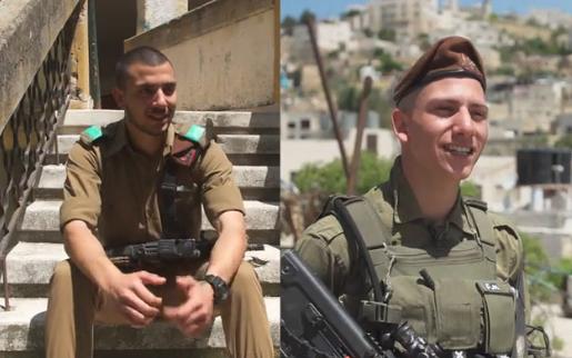 Les jumeaux Fares (à gauche) et Firas Muhammad, des frères arabes musulmans qui servent dans la Brigade Golani de l'armée israélienne (Capture d'écran : Douzième chaîne)