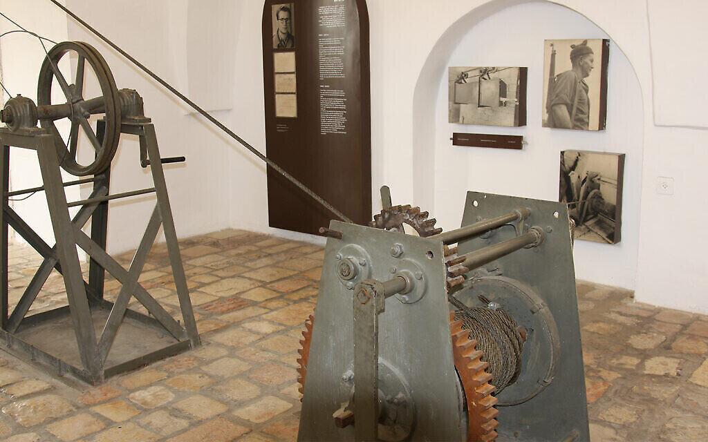 L'intérieur du musée du téléphérique à l'hôtel Mount Zion. (Shmuel Bar-Am)
