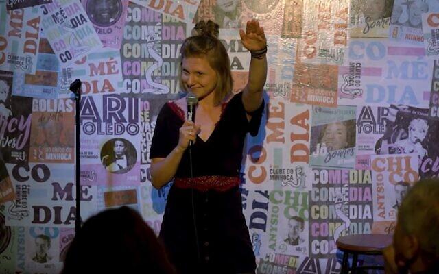 Lea Maria Jahn en stand-up à Sao Paulo, en février 2020. (Crédit : JTA)