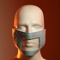 Un masque conçu par l'Association des personnes sourdes d'Israël pour une exposition démarrant le 10 juin 2020 au Musée du design de Holon. (Autorisation : Ran Yehezkel)