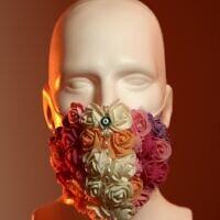 Un masque créé par le designer Shimon Kastiel pour une exposition démarrant le 10 juin 2020 au Musée du design de Holon. (Autorisation : Ran Yehezkel)