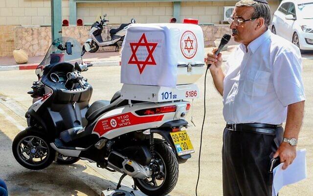 Georges Benazera, lors d'un évènement du Magen David Adomà Netanya. (Crédit : Magen David AdomFrance)