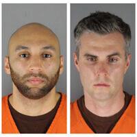 Ces photos fournies par le bureau du shérif du comté de Hennepin dans le Minnesota le mercredi 3 juin 2020 montre, de gauche à droite, Derek Chauvin, J. Alexander Kueng, Thomas Lane et Tou Thao. Chauvin est accusé du meurtre au deuxième degré de George Floyd lors de son arrestation le 25 mai. Kueng, Lane et Thao ont été accusés d'avoir aidé et encouragé Chauvin. (Crédit : Bureau du shérif du comté de Hennepin via AP)