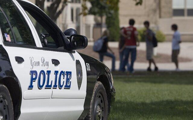 Photo d'illustration : Une voiture de police américaine à Green Bay, dans le Wisconsin. (Crédit : AP Photo/Morry Gash)