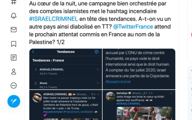 Capture d'écran d'un tweet du compte InfoEquitable.