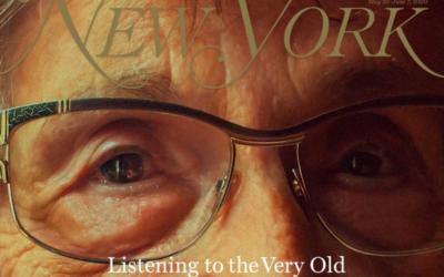 """La Une du """"New York Magazine"""" avec le visage d'une survivante de l'Holocauste de 92 ans partie """"faire le tour du monde""""."""