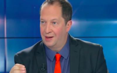 Le journaliste Michel Taube. (Crédit : capture d'écran BFM TV)