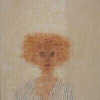 """Un portrait réalisé par Jan Rauchwerger, présenté dans l'exposition """"Portrait Time II"""" au Musée d'art contemporain de Herzliya, qui a rouvert le 18 mai 2020 (Autorisation : musée de Herzliya)"""