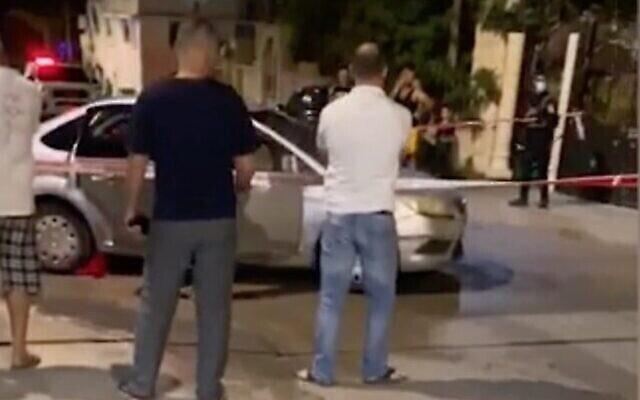 Capture écran d'une vidéo sur les lieux d'une fusillade mortelle dans la ville arabe du nord du pays de Jatt, le 18 juin 2020. (Crédit : Ynet)