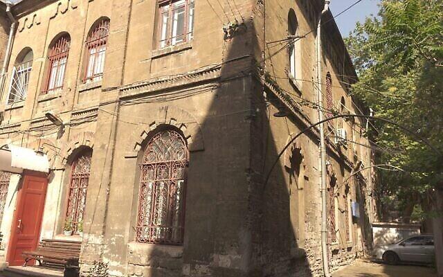 Photo non datée montrant l'extérieur du JCC Migdal à Odessa, à l'origine une synagogue construite en 1909. (Avec l'aimable autorisation de Kira Verkhovsky)