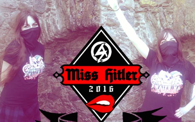 Deux photos de la gagnante du concours Miss Hitler 2016 organisé par le groupe britannique de suprématie blanche National Action. (National Action)
