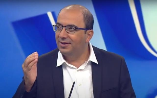 Sami Abu Shehadeh, député de la Liste arabe unie. (Capture d'écran : YouTube)