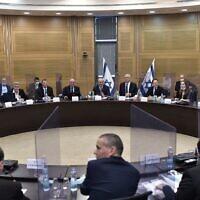 Les ministres se réunissent à la Knesset, le 28 mai 2020. (Koby Gideon/GPO)