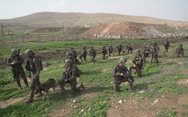 Des soldats de la Brigade commando de Tsahal participent à un exercice d'entraînement à grande échelle en novembre 2018. (Armée israélienne)