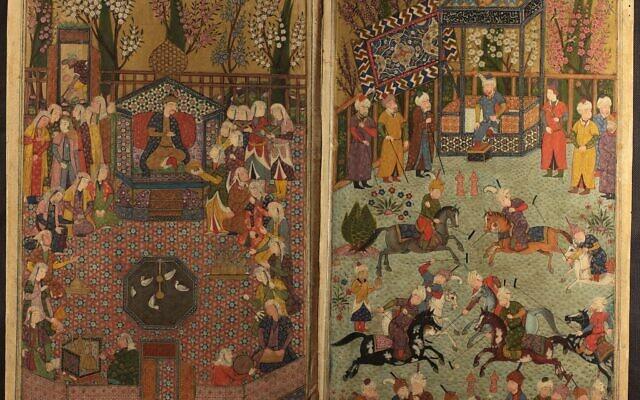 Le manuscrit 'Tuhfat al-Ahrar,' de Nur al-Din Jami réalisé en 1484 (Crédit : Bibliothèque nationale d'Israël)