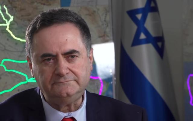 Le ministre des Finances Israel Katz, le 17 juin 2020 (Capture d'écran : Kan)