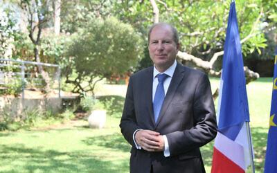 Eric Danon, ambassadeur de France en Israël, depuis septembre 2019. (Autorisation de l'Ambassade de France à Tel Aviv)