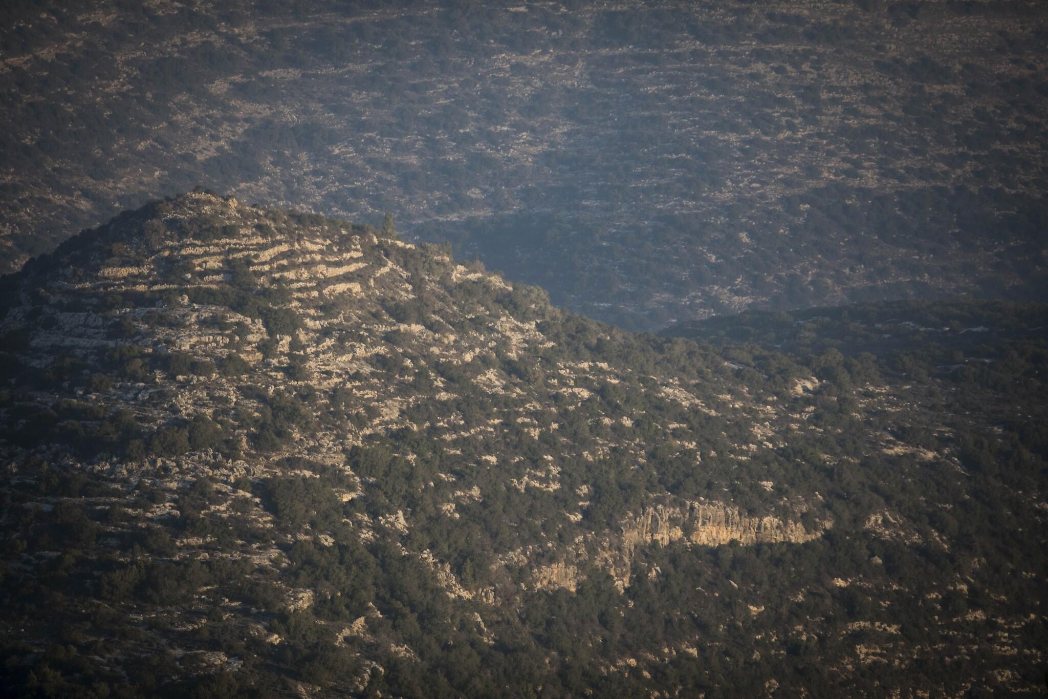 Une vue des collines de Jérusalem depuis Ein Kerem, le 22 janvier 2017 (Crédit : Nati Shohat/Flash90)
