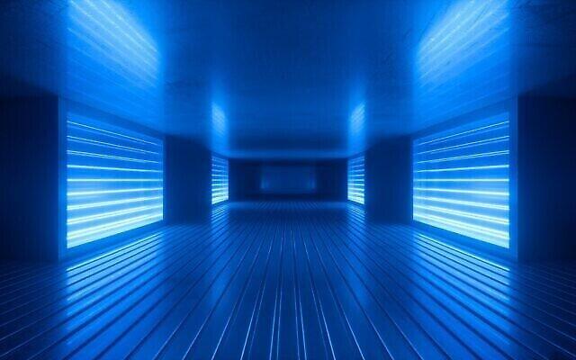 Rendu 3D d'une pièce avec de la lumière ultraviolette (iStock)