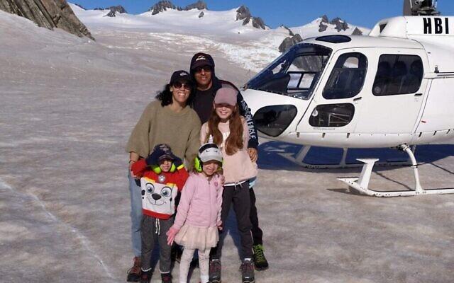 La famille Shabtai quelques jours avant le début du confinement en Nouvelle-Zélande. (Autorisation)