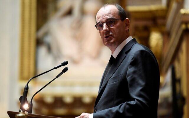 Le Premier ministre français Jean Castex prononce son discours de politique générale au Sénat, à Paris, le 16 juillet 2020. (Bertrand GUAY / AFP)