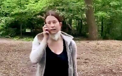 Amy Cooper, à Central Park, à New York, le 25 mai 2020. (Christian Cooper via AP)