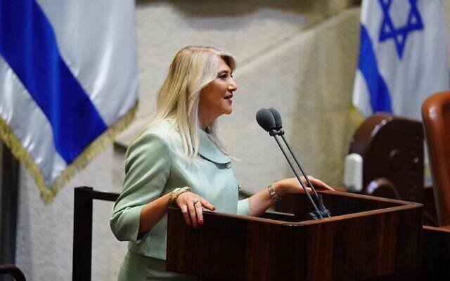 La nouvelle députée Likud Osnat Hila Mark. (Capture d'écran Facebook)