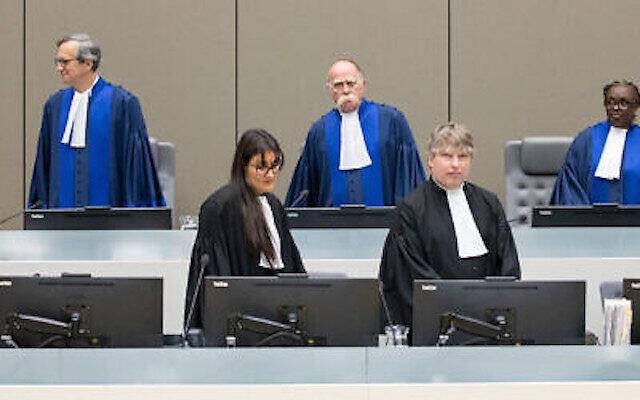 Chambre préliminaire I de la Cour pénale internationale (CPI), composée du juge Péter Kovács, juge président, du juge Marc Perrin de Brichambaut et de la juge Reine Alapini-Gansou, le 8 juillet 2019. (Autorisation)