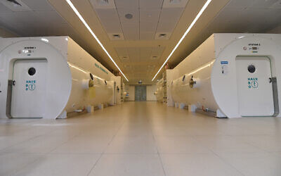 Chambres hyperbares au Centre Sagol pour la médecine et la recherche hyperbares au Centre médical Shamir. (Avec l'aimable autorisation du Centre Sagol)
