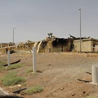 L'Organisation de l'énergie atomique d'Iran montre un bâtiment endommagé par un incendie à l'usine d'enrichissement d'uranium de Natanz, à 322 kilomètres au sud de Téhéran, le 2 juillet 2020. (Organisation de l'Energie atomique d'Iran via l'AP)